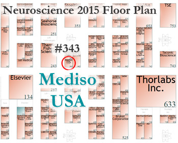 Neuroscience 2015 Floor Plan - Mediso USA Booth #343
