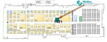 SNMMI 2014 Exhibition Floor Plan with Mediso booth #1421